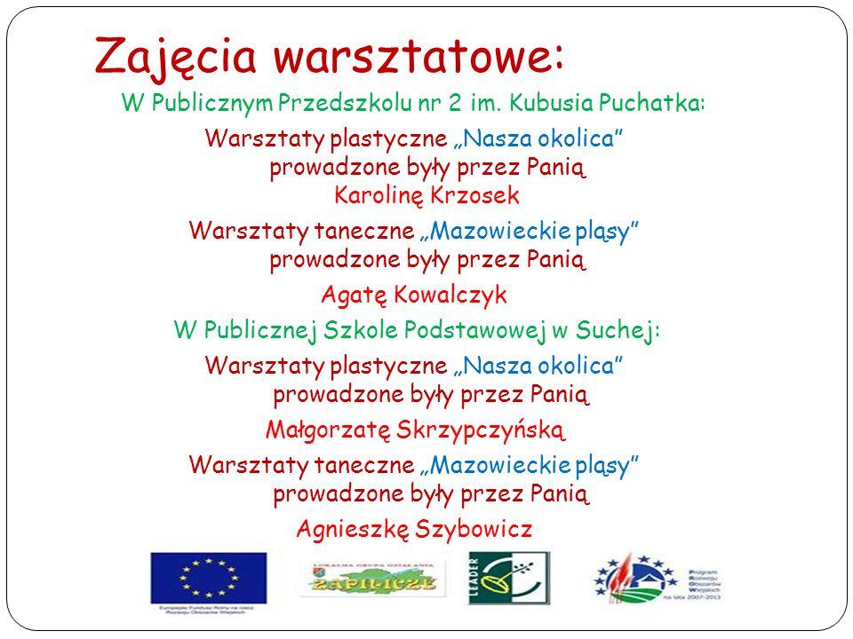 """Zajęcia warsztatowe: W Publicznym Przedszkolu nr 2 im. Kubusia Puchatka: Warsztaty plastyczne """"Nasza okolica"""" prowadzone były przez Panią Karolinę Krz"""