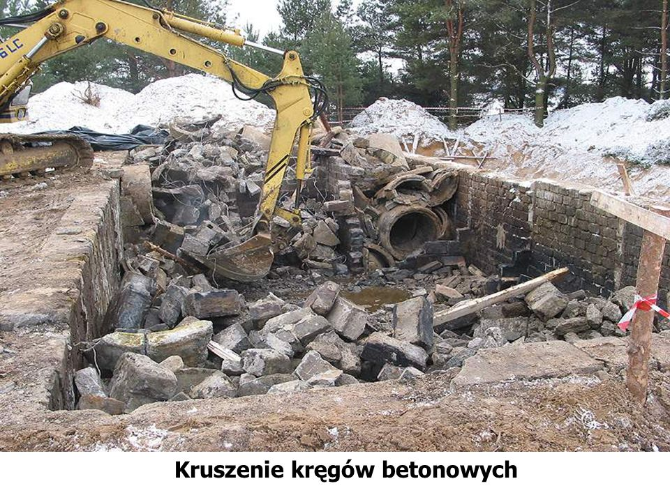 Kruszenie kręgów betonowych