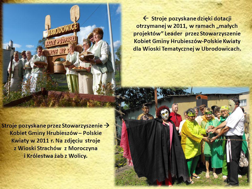 """ A to """"Żabki z Wolicy uczestniczące w projekcie """"Wioski tematyczne….. , które realizowało Stowarzyszenie Kobiet w 2011 r."""