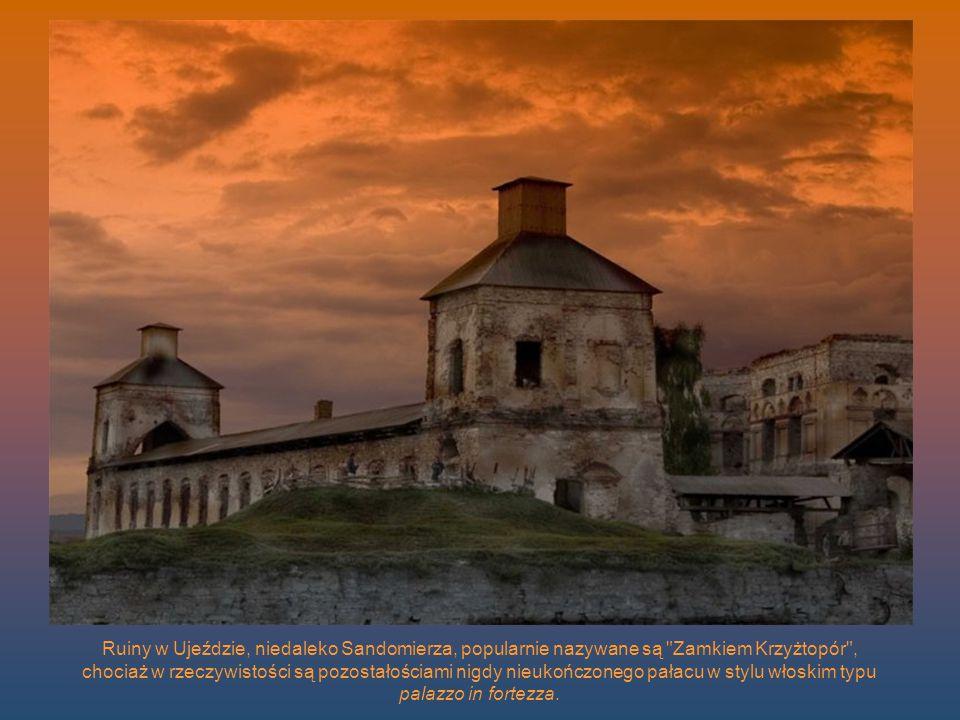 Ruiny w Ujeździe, niedaleko Sandomierza, popularnie nazywane są