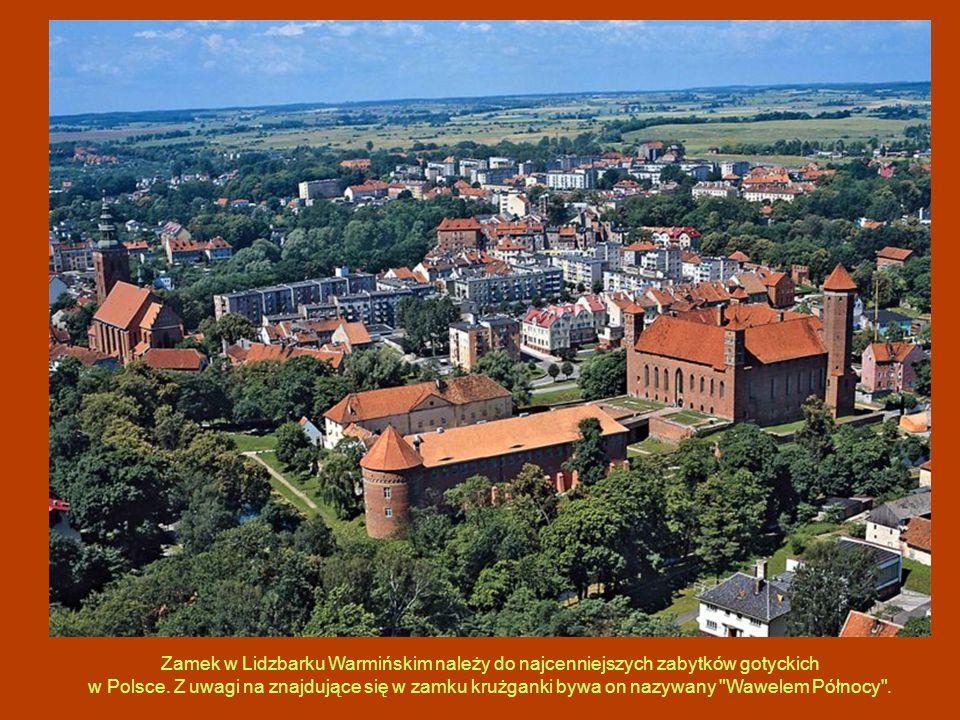 Zamek w Lidzbarku Warmińskim należy do najcenniejszych zabytków gotyckich w Polsce. Z uwagi na znajdujące się w zamku krużganki bywa on nazywany