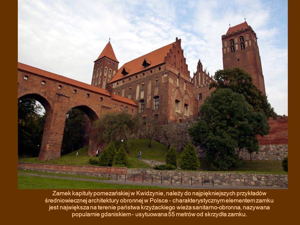 Zamek kapituły pomezańskiej w Kwidzynie, należy do najpiękniejszych przykładów średniowiecznej architektury obronnej w Polsce - charakterystycznym ele