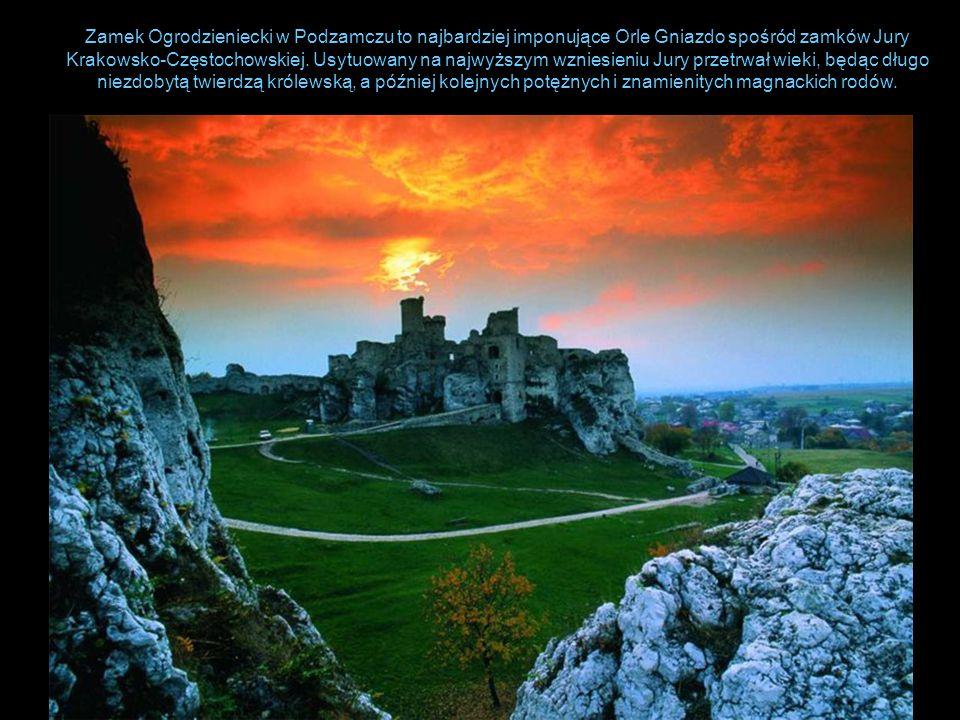 Zamek Ogrodzieniecki w Podzamczu to najbardziej imponujące Orle Gniazdo spośród zamków Jury Krakowsko-Częstochowskiej. Usytuowany na najwyższym wznies