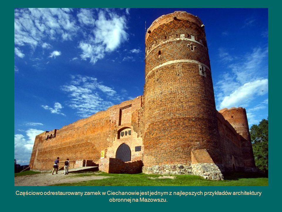 Częściowo odrestaurowany zamek w Ciechanowie jest jednym z najlepszych przykładów architektury obronnej na Mazowszu.