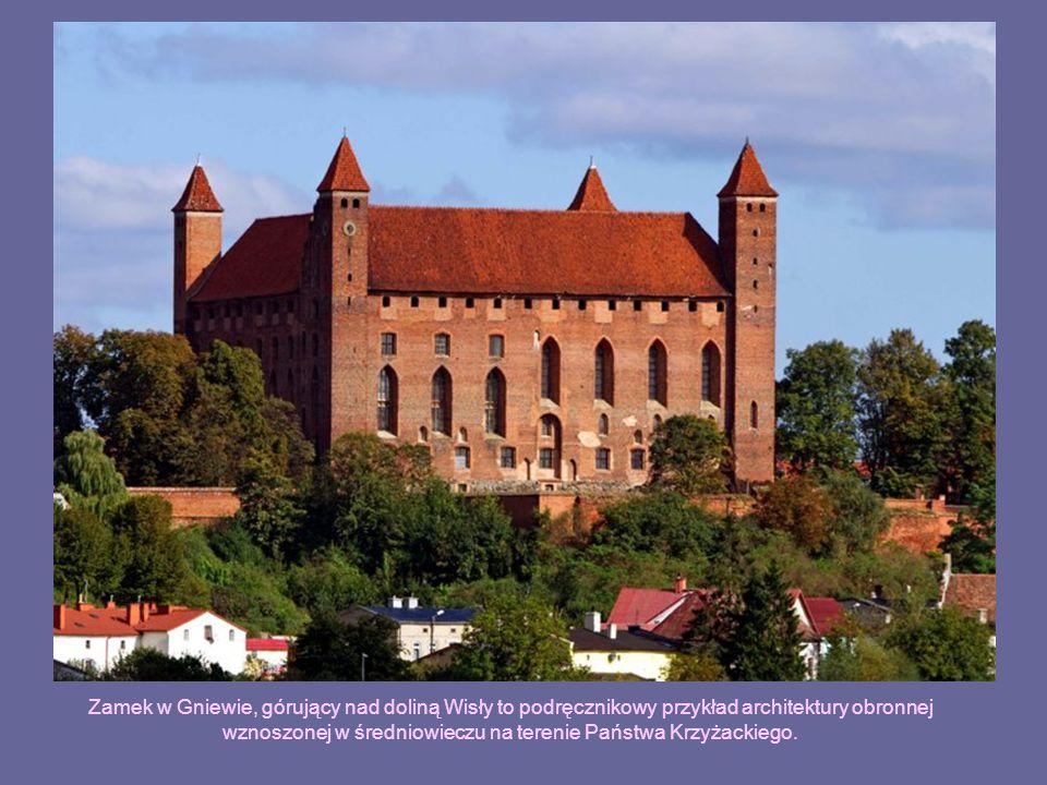Zamek w Gniewie, górujący nad doliną Wisły to podręcznikowy przykład architektury obronnej wznoszonej w średniowieczu na terenie Państwa Krzyżackiego.
