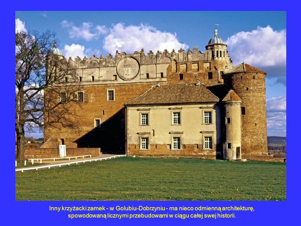 Inny krzyżacki zamek - w Golubiu-Dobrzyniu - ma nieco odmienną architekturę, spowodowaną licznymi przebudowami w ciągu całej swej historii.