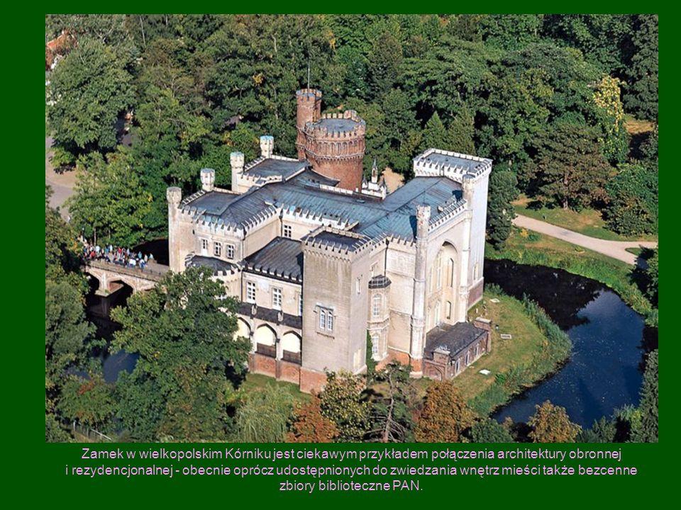 Zamek w wielkopolskim Kórniku jest ciekawym przykładem połączenia architektury obronnej i rezydencjonalnej - obecnie oprócz udostępnionych do zwiedzan