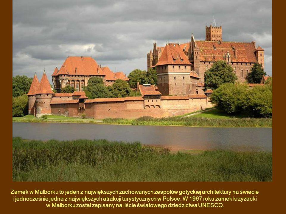 Zamek w Malborku to jeden z największych zachowanych zespołów gotyckiej architektury na świecie i jednocześnie jedna z największych atrakcji turystycznych w Polsce.