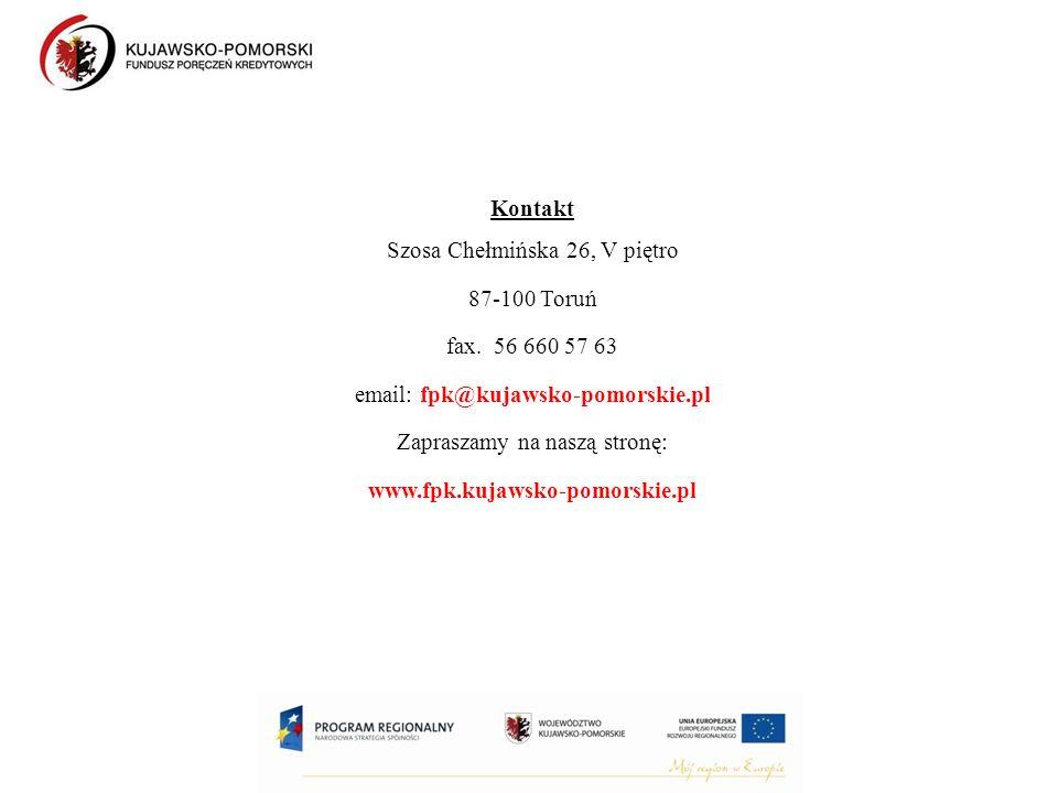 Kontakt Szosa Chełmińska 26, V piętro 87-100 Toruń fax.