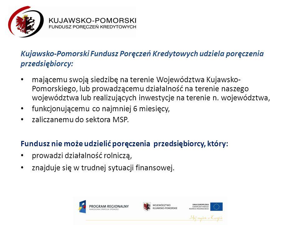 mającemu swoją siedzibę na terenie Województwa Kujawsko- Pomorskiego, lub prowadzącemu działalność na terenie naszego województwa lub realizujących inwestycje na terenie n.