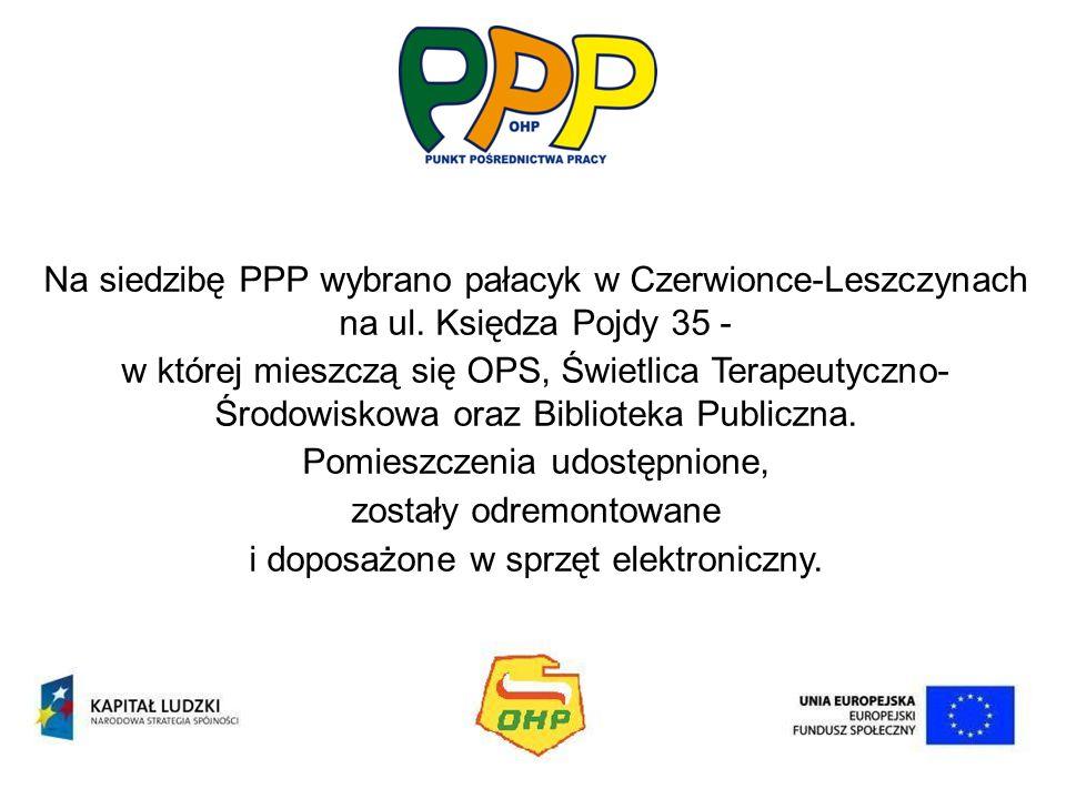 Na siedzibę PPP wybrano pałacyk w Czerwionce-Leszczynach na ul. Księdza Pojdy 35 - w której mieszczą się OPS, Świetlica Terapeutyczno- Środowiskowa or