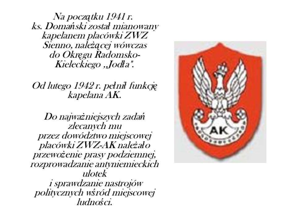 Na pocz ą tku 1941 r. ks.