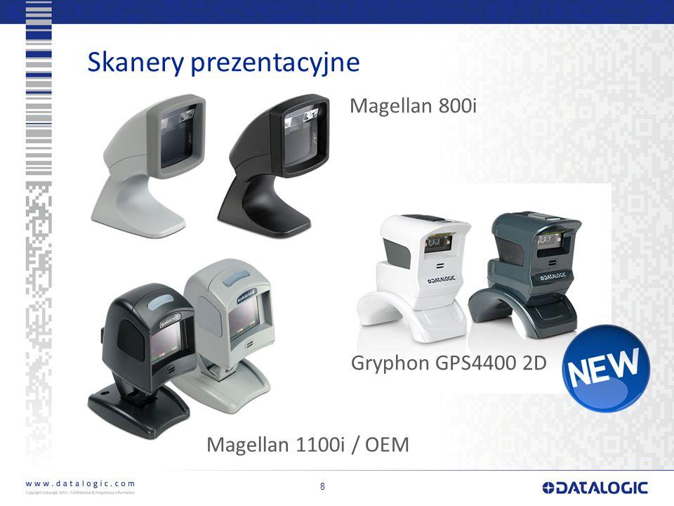 Skanery prezentacyjne 8 Magellan 800i Magellan 1100i / OEM Gryphon GPS4400 2D