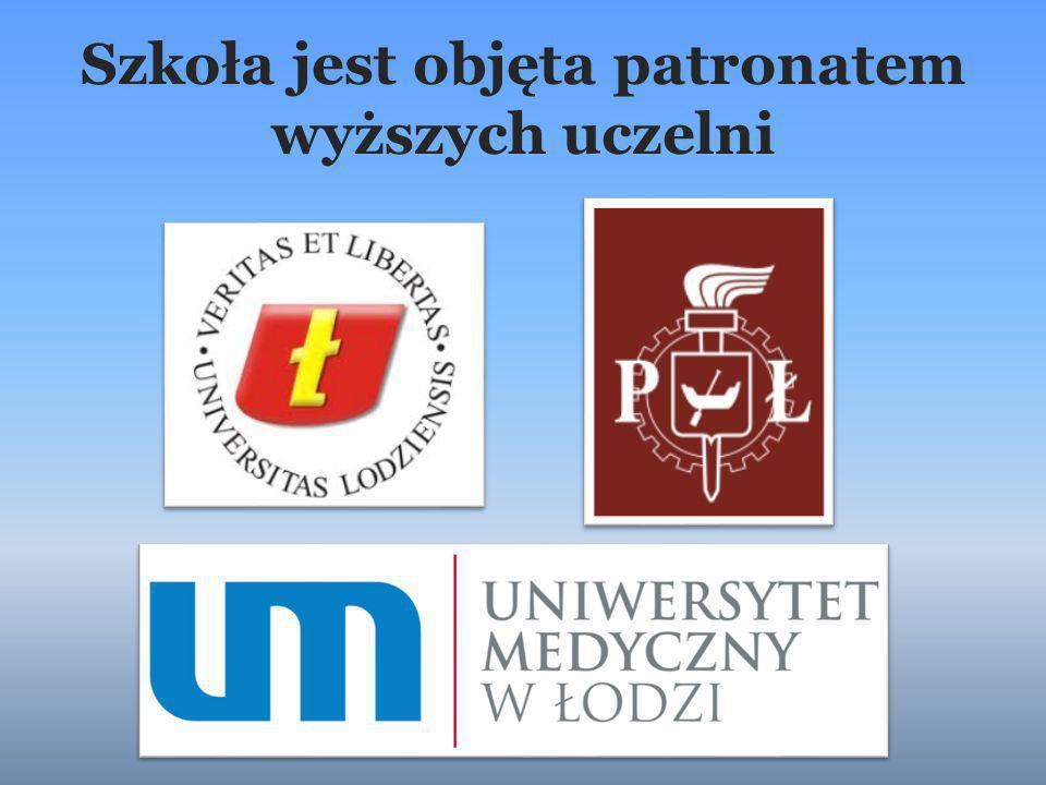 Szkoła jest objęta patronatem wyższych uczelni