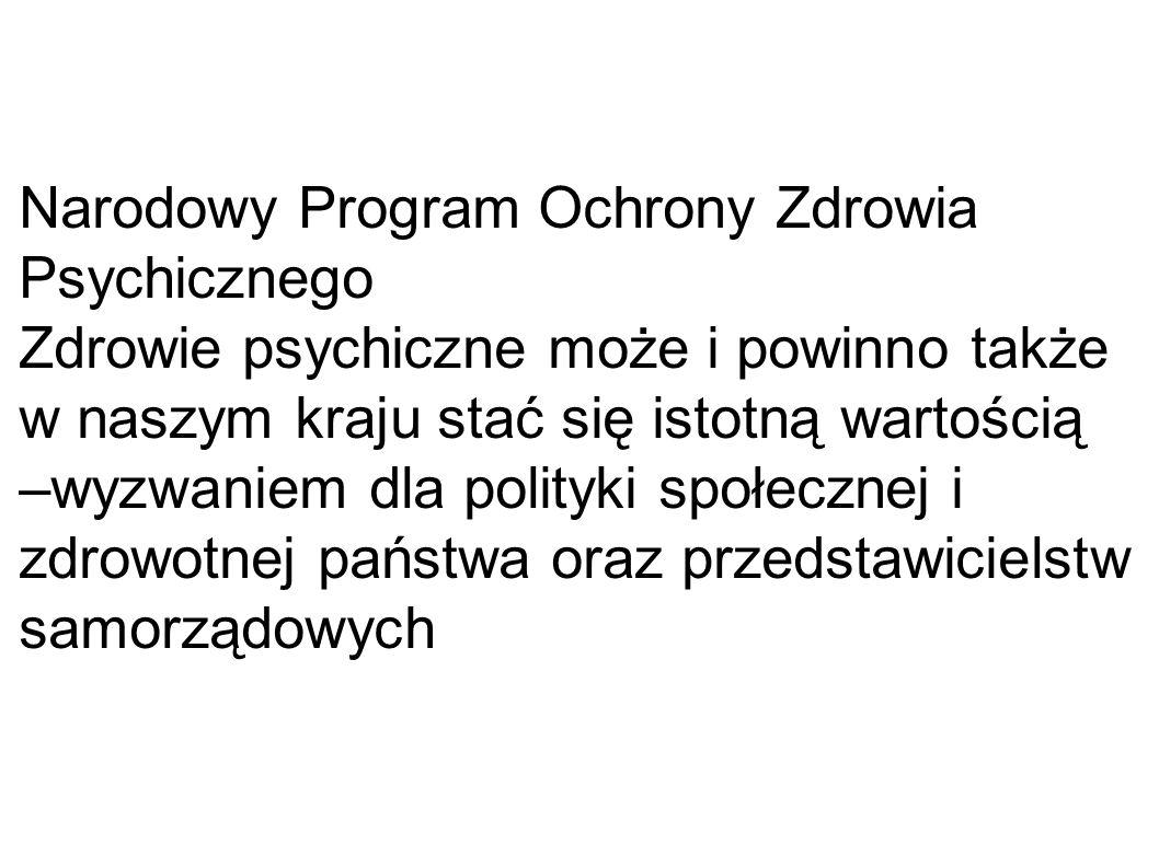 Narodowy Program Ochrony Zdrowia Psychicznego CEL 1.