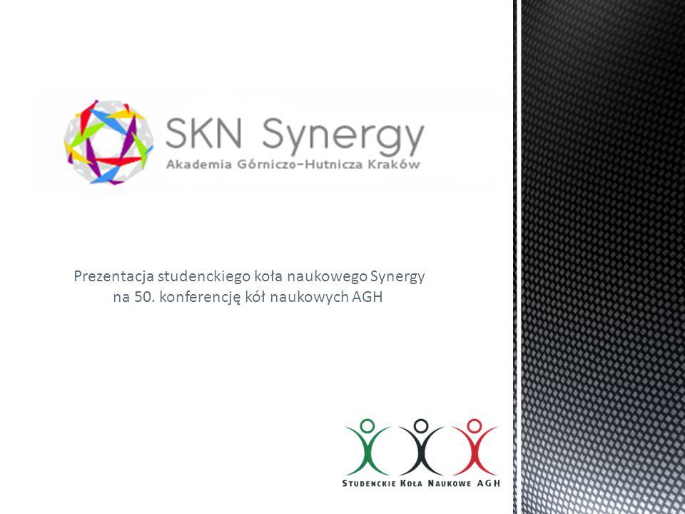 Prezentacja studenckiego koła naukowego Synergy na 50. konferencję kół naukowych AGH