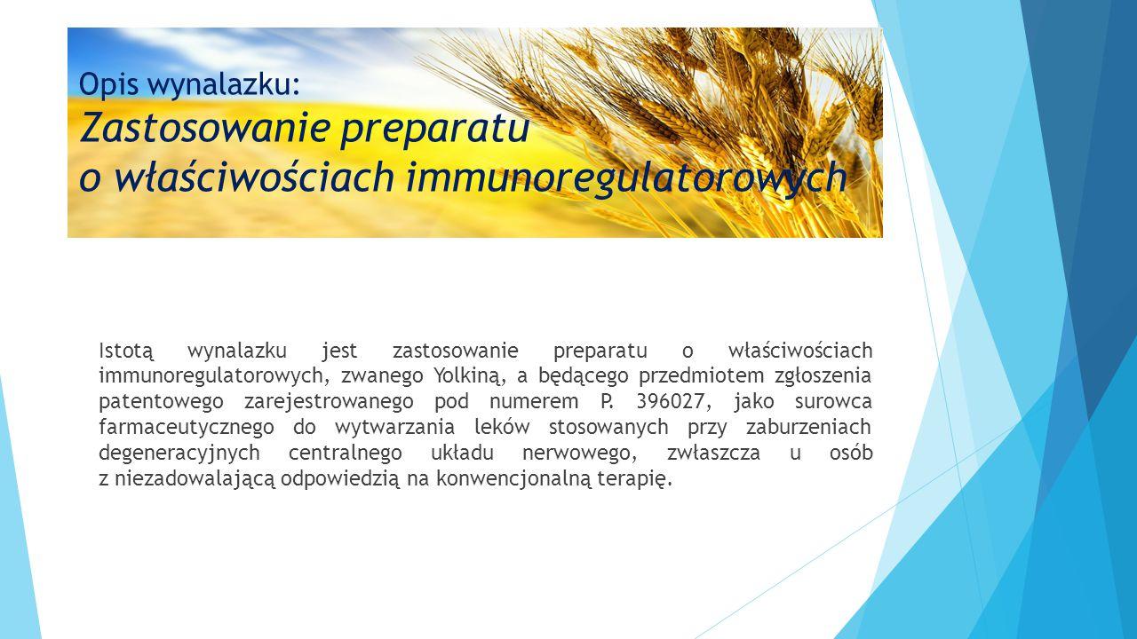Opis wynalazku: Zastosowanie preparatu o właściwościach immunoregulatorowych Istotą wynalazku jest zastosowanie preparatu o właściwościach immunoregul