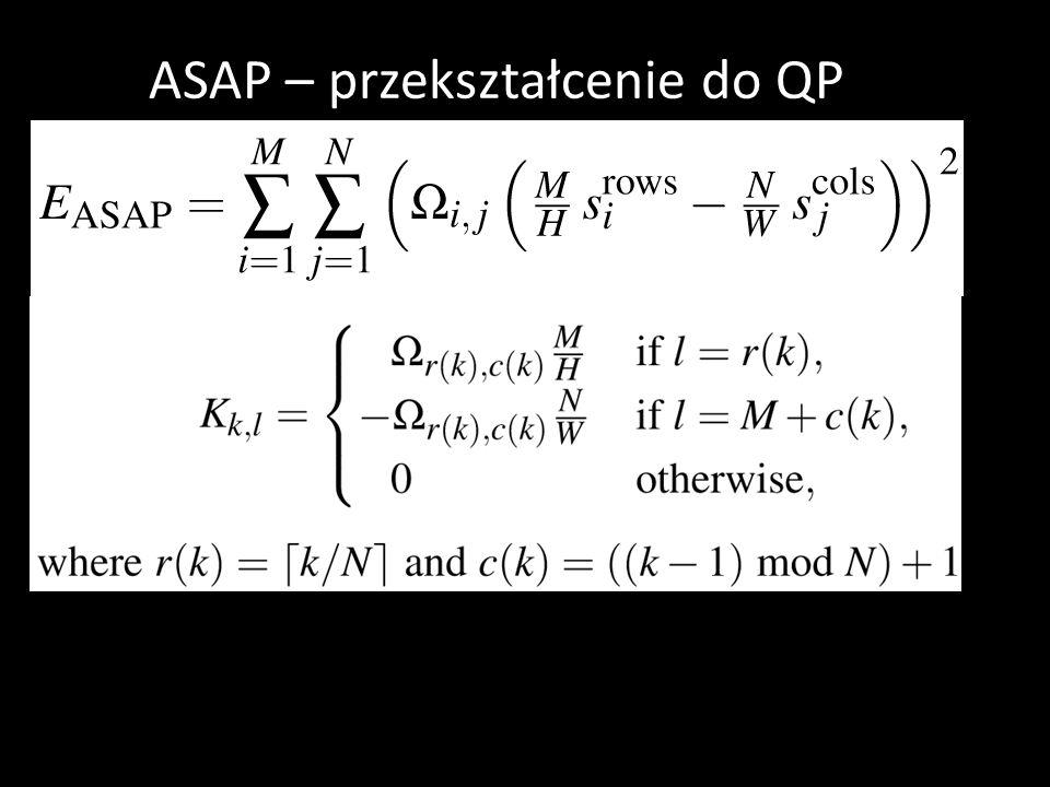 ASAP – przekształcenie do QP