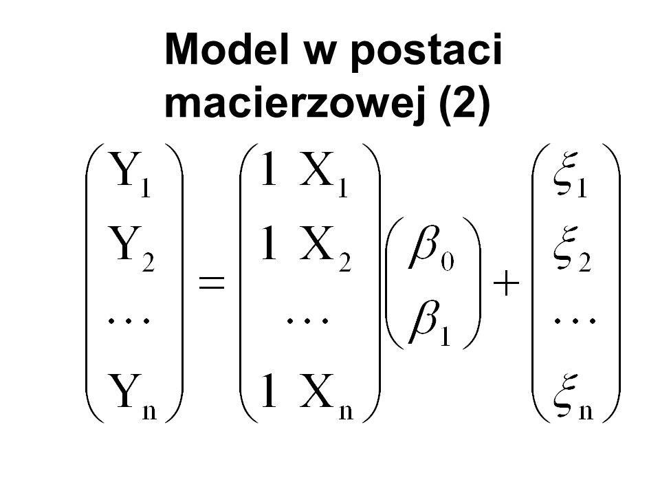 Model w postaci macierzowej (2)
