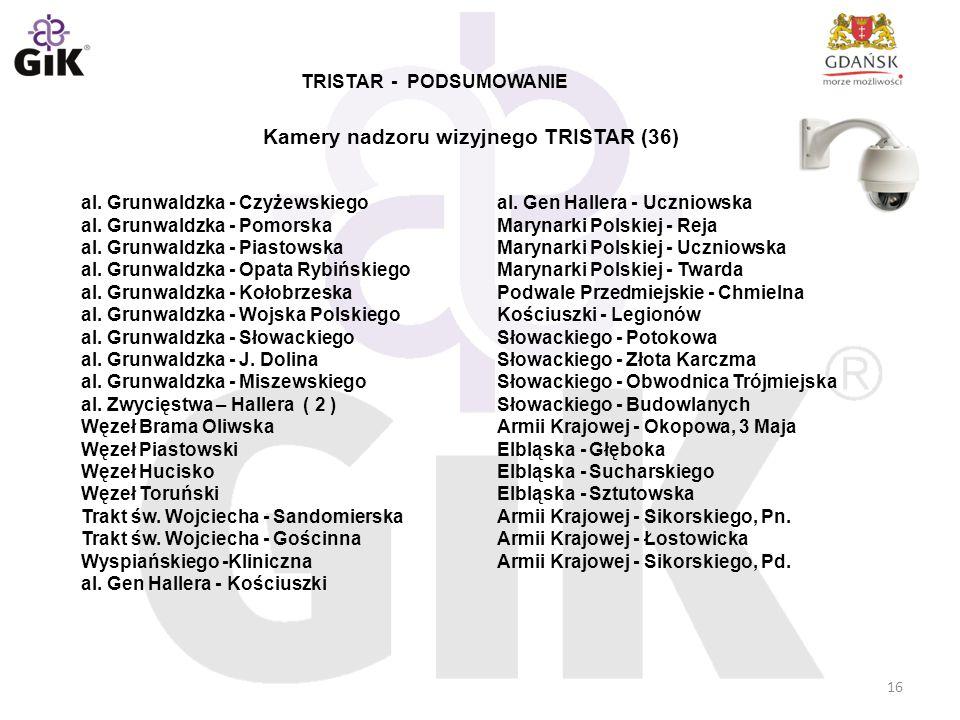 16 al. Grunwaldzka - Czyżewskiego al. Grunwaldzka - Pomorska al. Grunwaldzka - Piastowska al. Grunwaldzka - Opata Rybińskiego al. Grunwaldzka - Kołobr