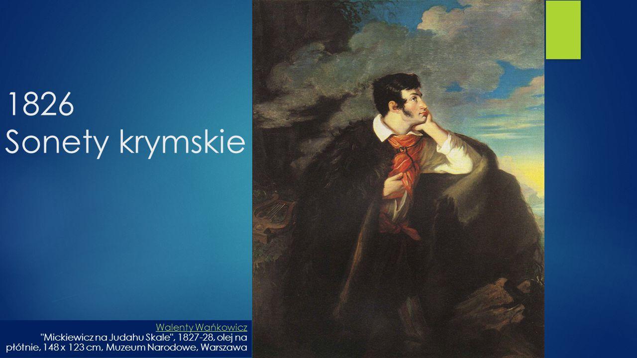 1826 Sonety krymskie Walenty Wańkowicz Walenty Wańkowicz
