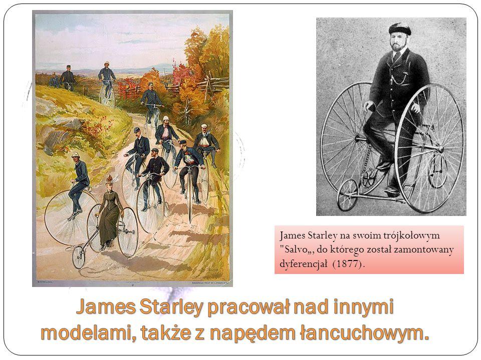 James Starley na swoim trójkołowym