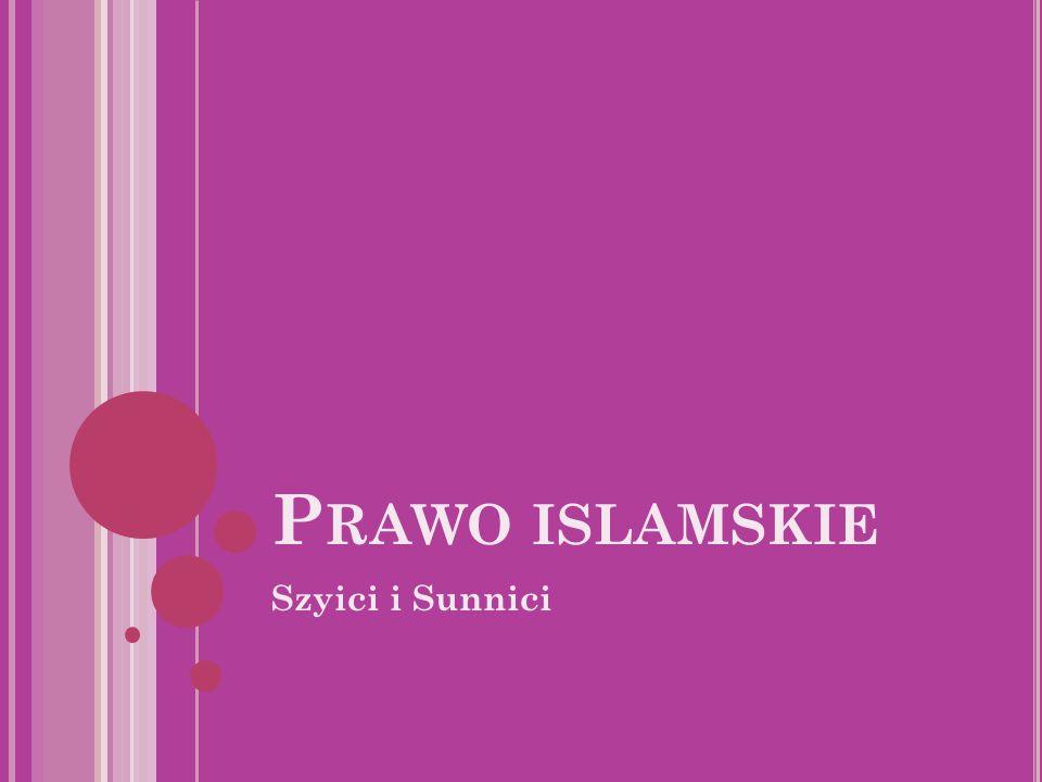 P RAWO ISLAMSKIE Szyici i Sunnici