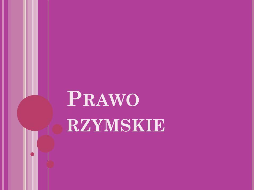 P RAWO RZYMSKIE