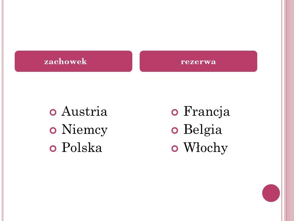 Austria Niemcy Polska Francja Belgia Włochy zachowekrezerwa