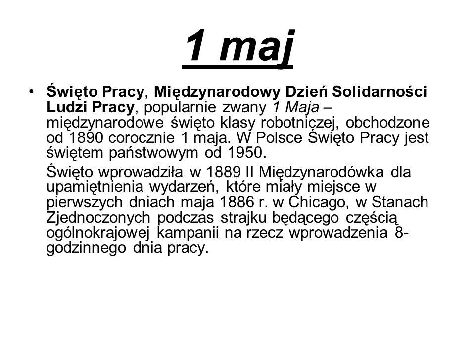 2 maj Dzień Flagi Rzeczypospolitej Polskiej – polskie święto wprowadzone na mocy ustawy z 20 lutego 2004, obchodzone między świętami: 1 maja – Świętem Państwowym (Świętem Pracy) i 3 maja - Świętem Konstytucji 3 Maja.