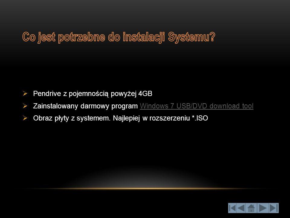 "Za pomocą ""Windows 7 USB/DVD download tool"