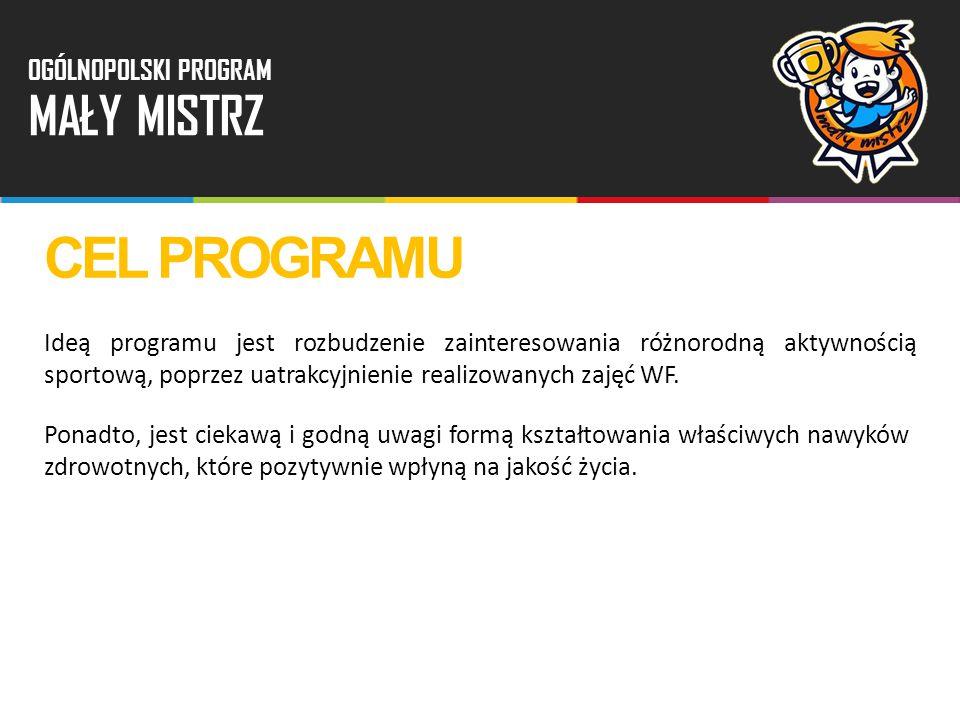 Ideą programu jest rozbudzenie zainteresowania różnorodną aktywnością sportową, poprzez uatrakcyjnienie realizowanych zajęć WF. Ponadto, jest ciekawą