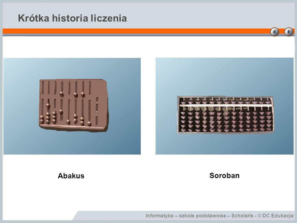 Informatyka – szkoła podstawowa – Scholaris - © DC Edukacja Krótka historia liczenia Abakus Soroban