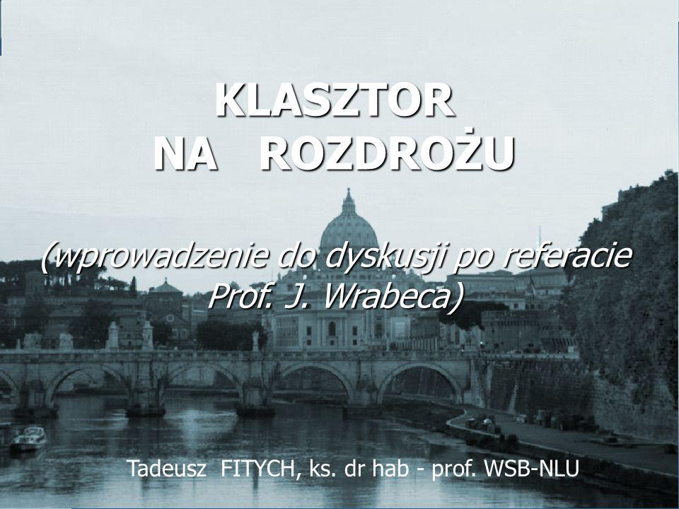 Tadeusz FITYCH, ks.dr hab - prof.