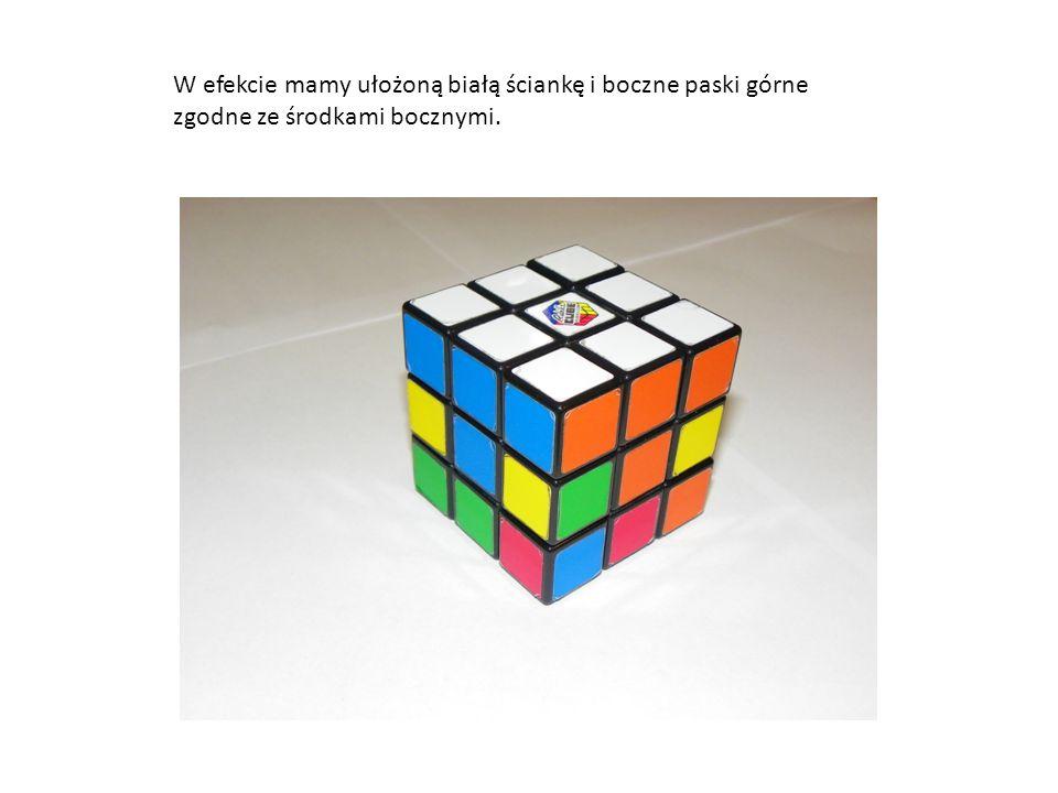 Orientacja – biały środek na dole 3.Środkowy poziom ścianek bocznych.