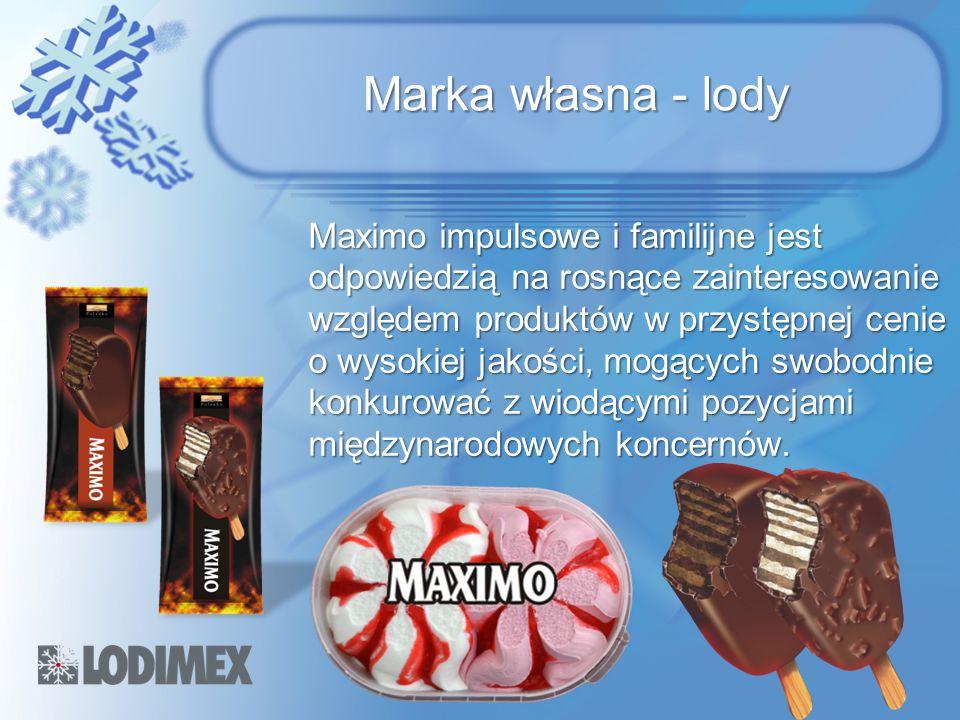 Marka własna - lody Maximo impulsowe i familijne jest odpowiedzią na rosnące zainteresowanie względem produktów w przystępnej cenie o wysokiej jakości