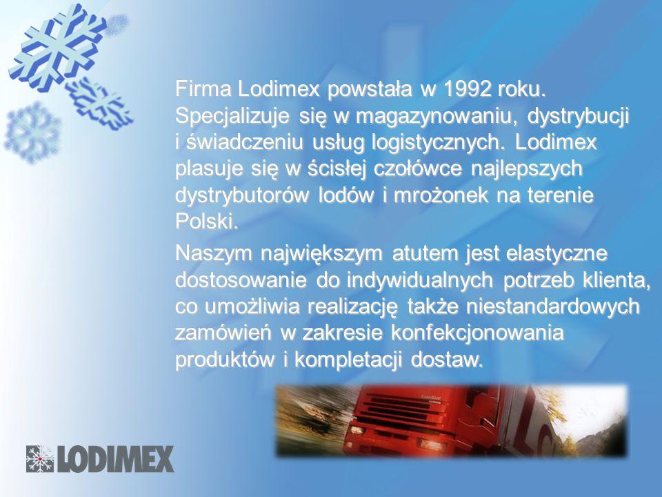 Firma Lodimex powstała w 1992 roku. Specjalizuje się w magazynowaniu, dystrybucji i świadczeniu usług logistycznych. Lodimex plasuje się w ścisłej czo
