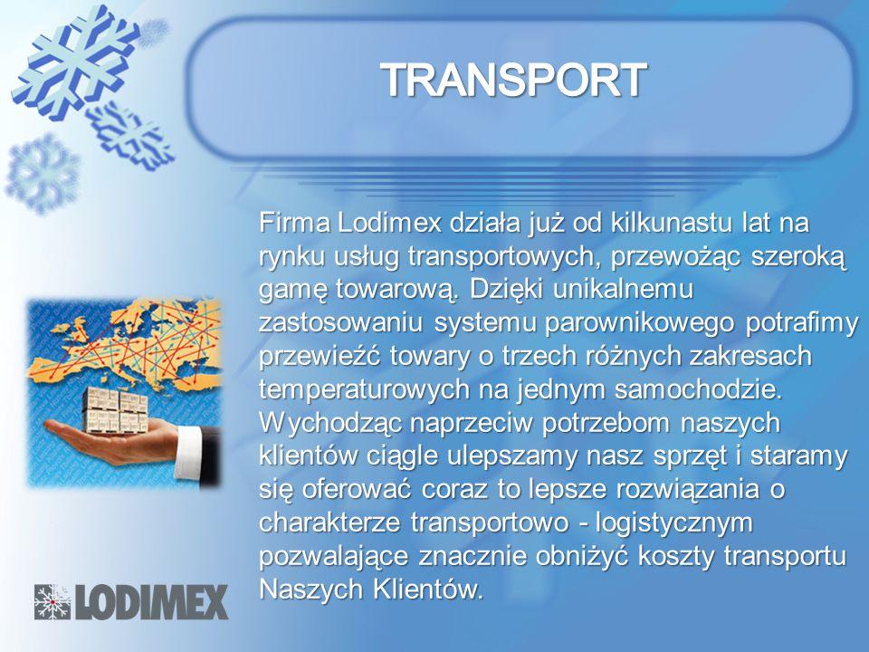 Firma Lodimex działa już od kilkunastu lat na rynku usług transportowych, przewożąc szeroką gamę towarową. Dzięki unikalnemu zastosowaniu systemu paro