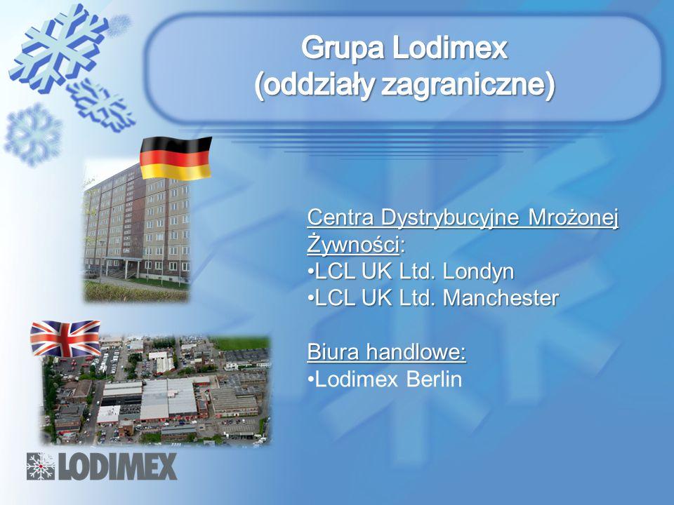 Centra Dystrybucyjne Mrożonej Żywności: LCL UK Ltd. LondynLCL UK Ltd. Londyn LCL UK Ltd. ManchesterLCL UK Ltd. Manchester Biura handlowe: Lodimex Berl