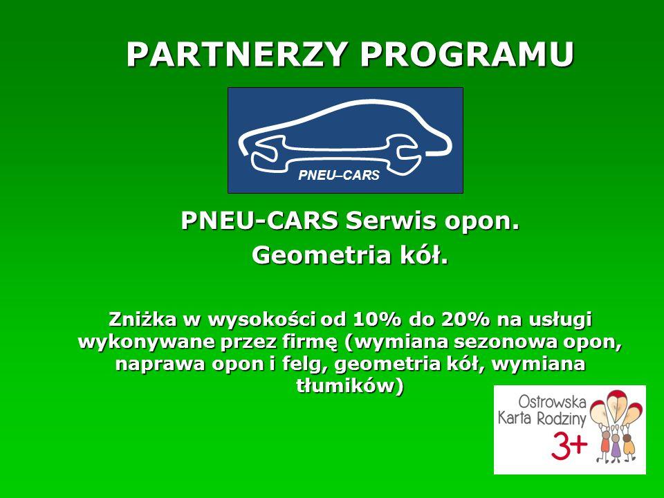 PARTNERZY PROGRAMU PNEU-CARS Serwis opon. Geometria kół.