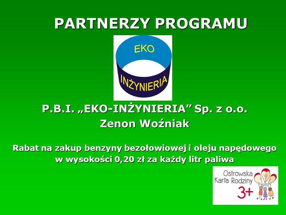 """PARTNERZY PROGRAMU P.B.I. """"EKO-INŻYNIERIA Sp. z o.o."""