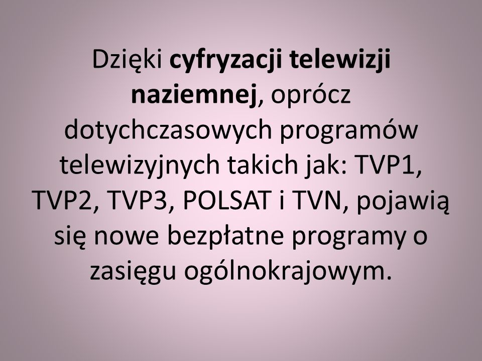 OFERTA NTC JEST BEZPŁATNA Jednak nadal obowiązuje opłata abonamentowa za używanie odbiornika radiowego lub telewizyjnego.