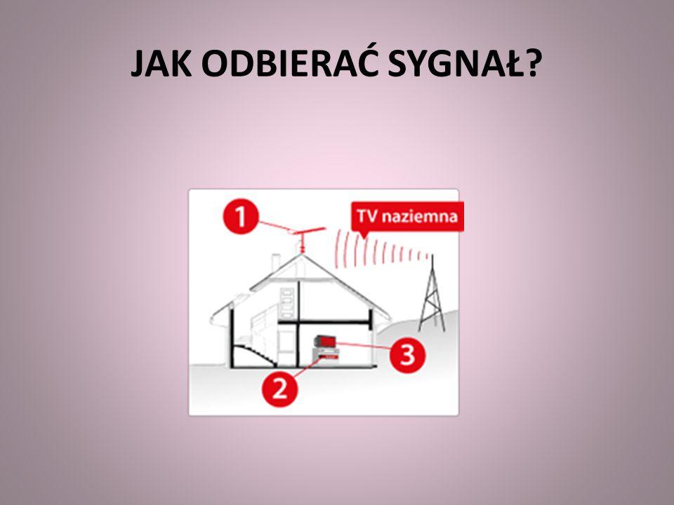 ODBIÓR SYGNAŁU Odbiór sygnału cyfrowego najczęściej umożliwi wykorzystywana do tej pory antena.