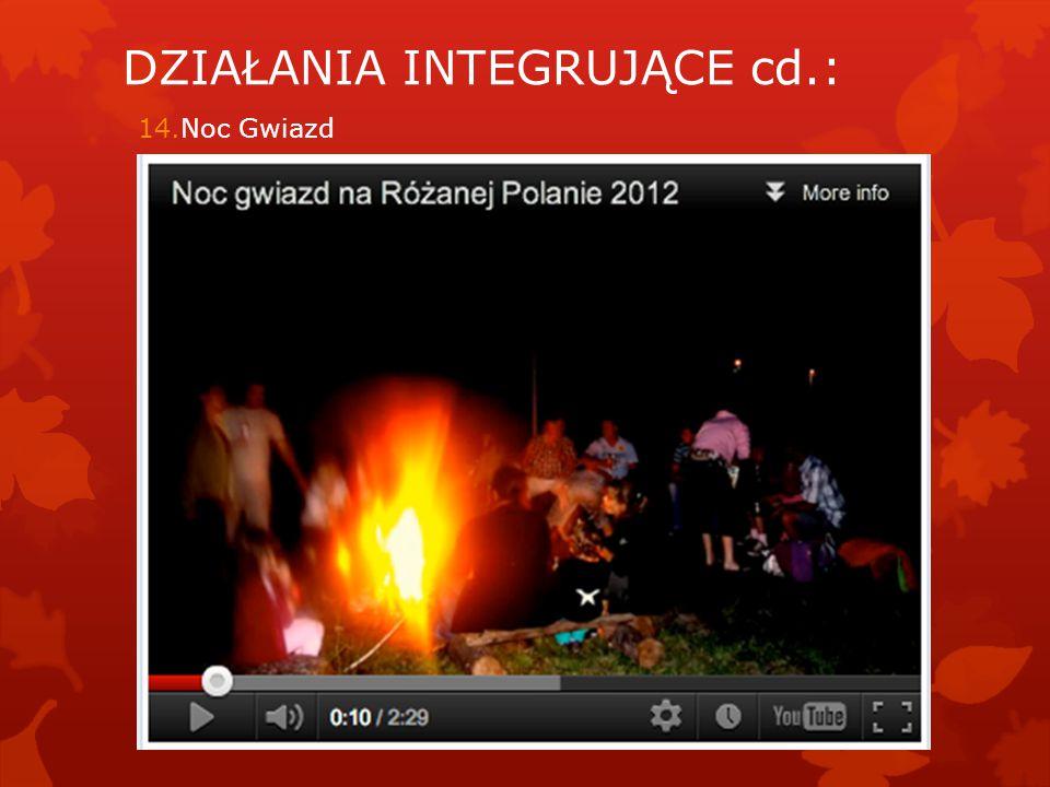 14.Noc Gwiazd DZIAŁANIA INTEGRUJĄCE cd.: