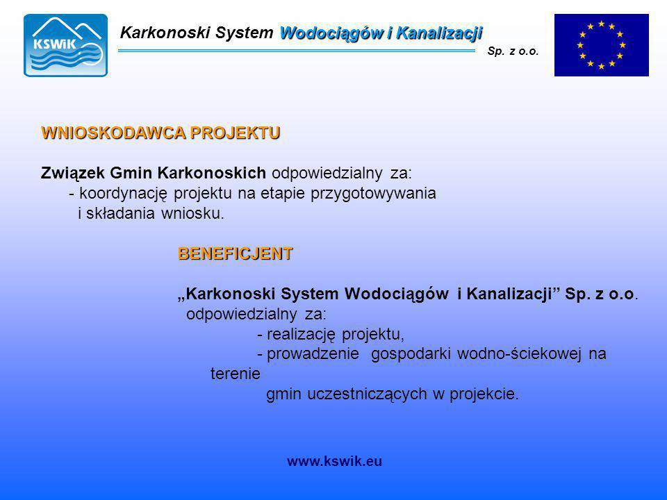 """WNIOSKODAWCA PROJEKTU Związek Gmin Karkonoskich odpowiedzialny za: - koordynację projektu na etapie przygotowywania i składania wniosku. BENEFICJENT """""""