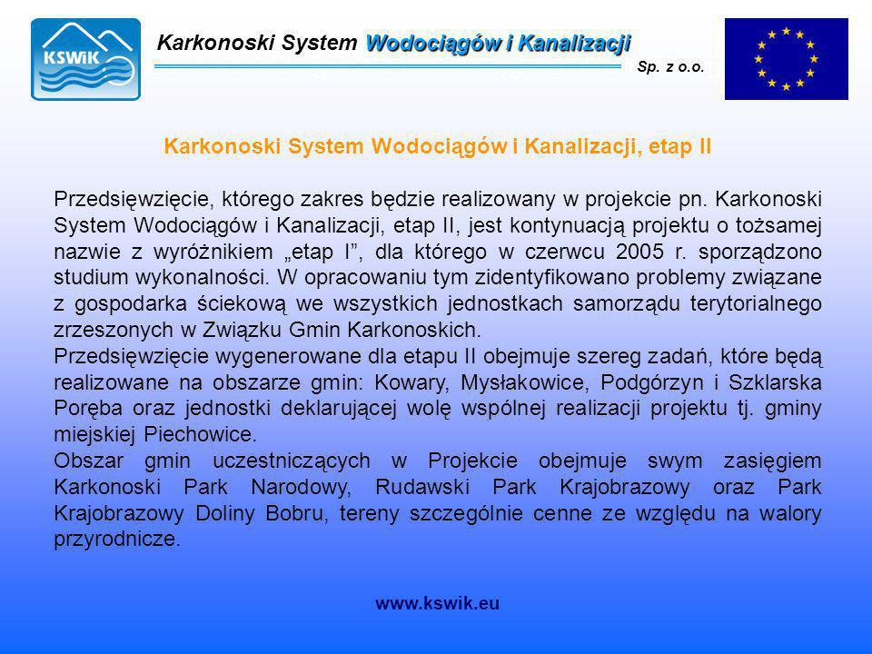 Karkonoski System Wodociągów i Kanalizacji Sp. z o.o. Karkonoski System Wodociągów i Kanalizacji Sp. z o.o. www.kswik.eu Karkonoski System Wodociągów