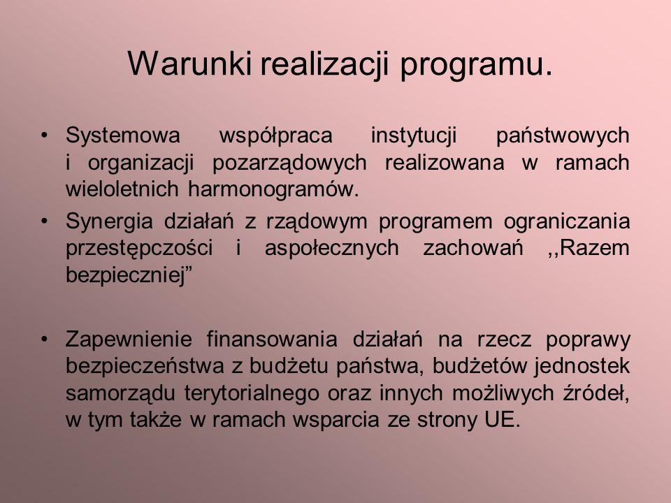 Warunki realizacji programu.