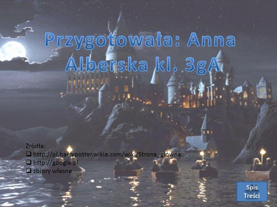 Źródła:  http://pl.harrypotter.wikia.com/wiki/Strona_główna  http://google.pl  zbiory własne Spis Treści