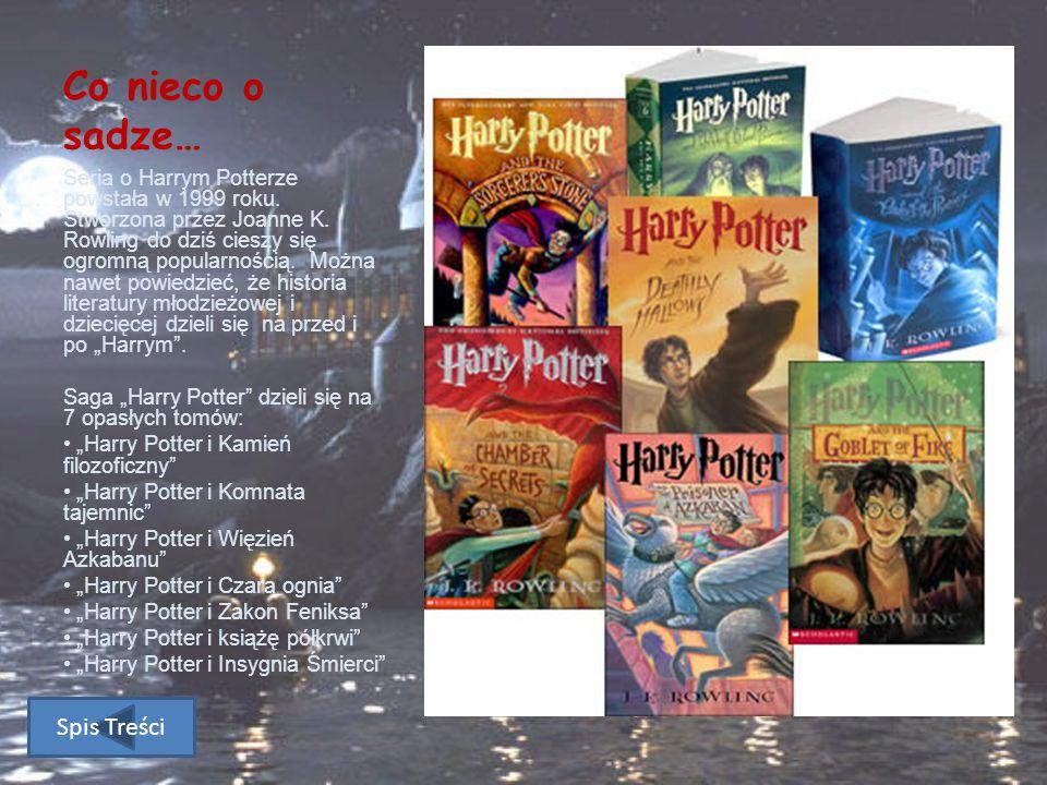 """""""Harry Potter to nie tylko książki… Spis Treści"""