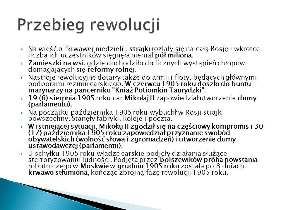  W marcu 1906 roku odbyły się wybory do I Dumy Państwowej, zbojkotowane przez SDPRR i częściowo przez eserowców.